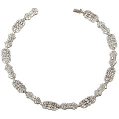 Early 20th Century French Diamond Necklace or Bracelets
