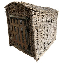 Early 20th Century French Dog Kennel Basket