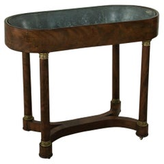 Early 20th Century French Empire Style Mahogany Planter Jardiniere Vitrine Table