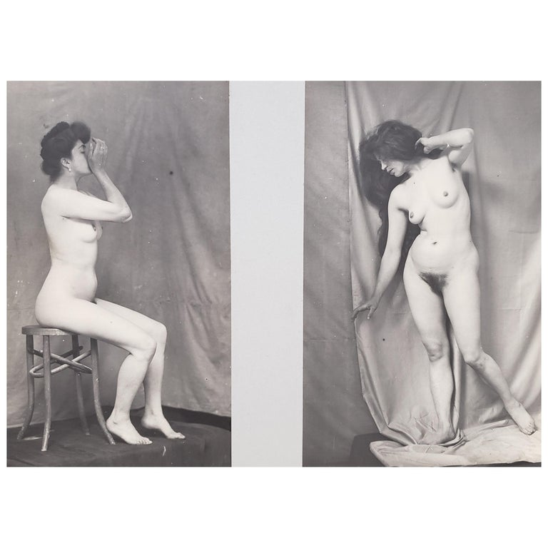 Early 20th Century French Erotica Nude Art Photographs For Sale