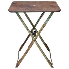 Early 20th Century French Folding Metal Garden Table