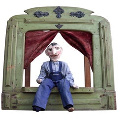 Early 20th Century French Folk Art Puppet Theatre