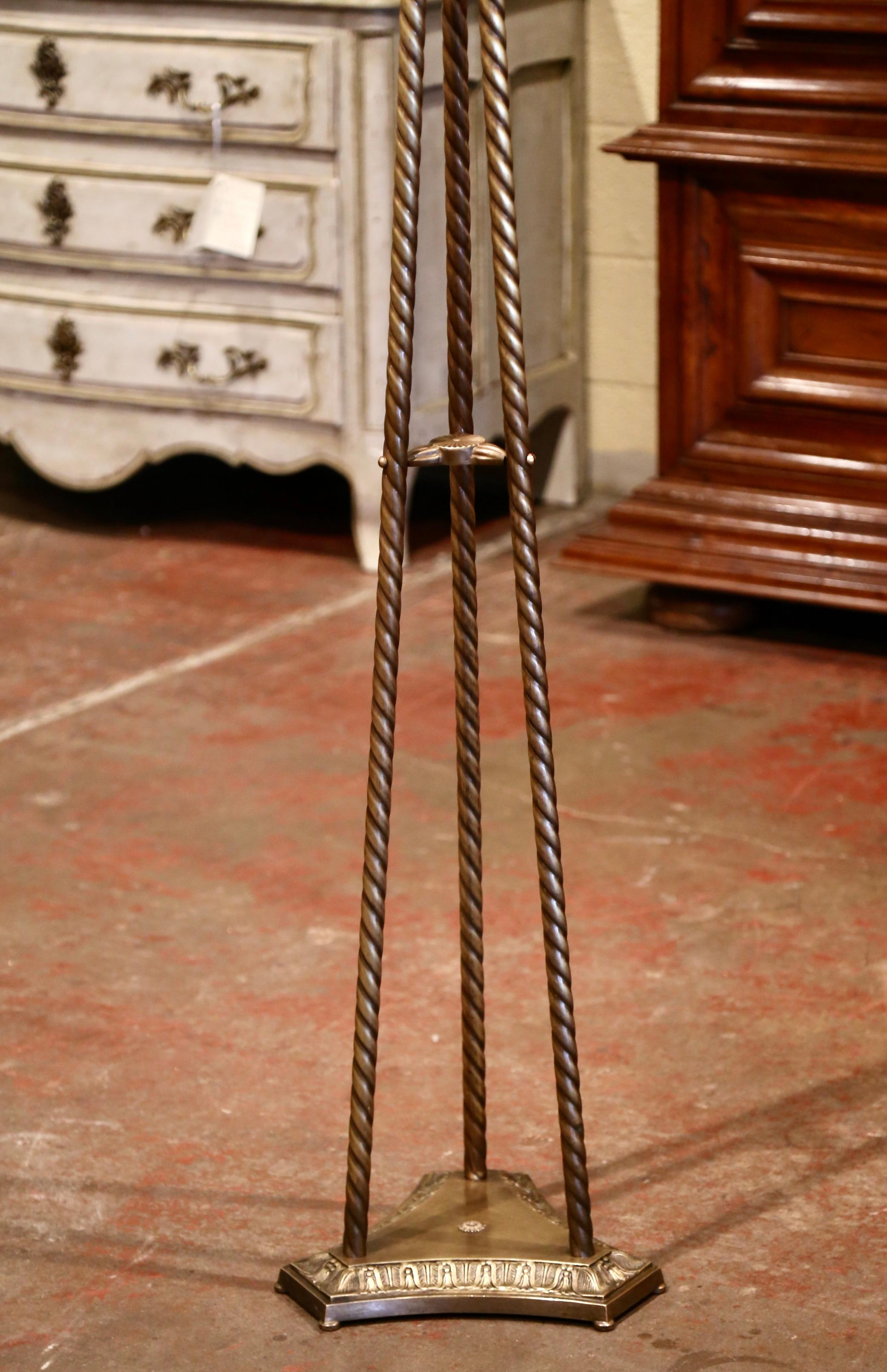 Early 20th Century French Gilt Brass Free Standing Swivel Hall Tree With Hooks At 1stdibs