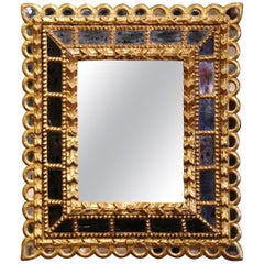 Early 20th Century French Giltwood Sunburst Mirror with Overlay Recessed Glass