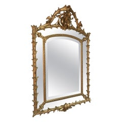 Early 20th Century French Golden Wood Louis XV Mirror