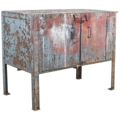 Early 20th Century French Industrial Storage Cabinet