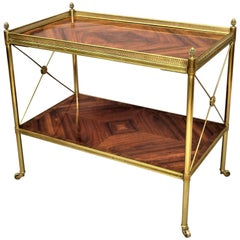 Early 20th Century French Kingwood and Gilt Brass Étagère