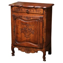 Early 20th Century French Louis XV Carved Oak Jelly Cabinet from Normandy