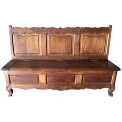 Early 20th Century French Louis XV-Style Country Bench
