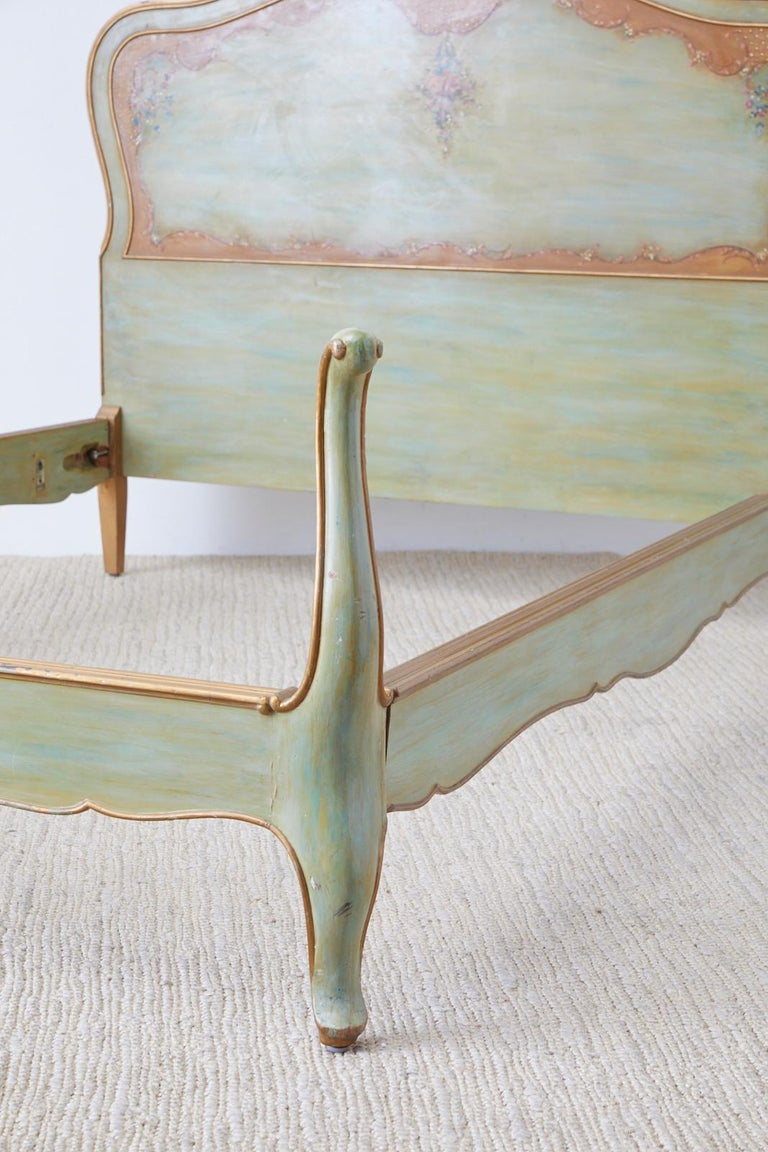 Early 20th Century French Louis XV Style Lacquered Bed 7