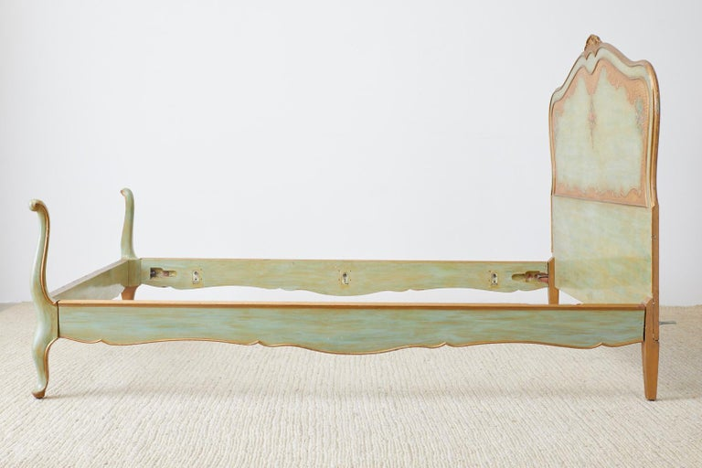 Early 20th Century French Louis XV Style Lacquered Bed 9