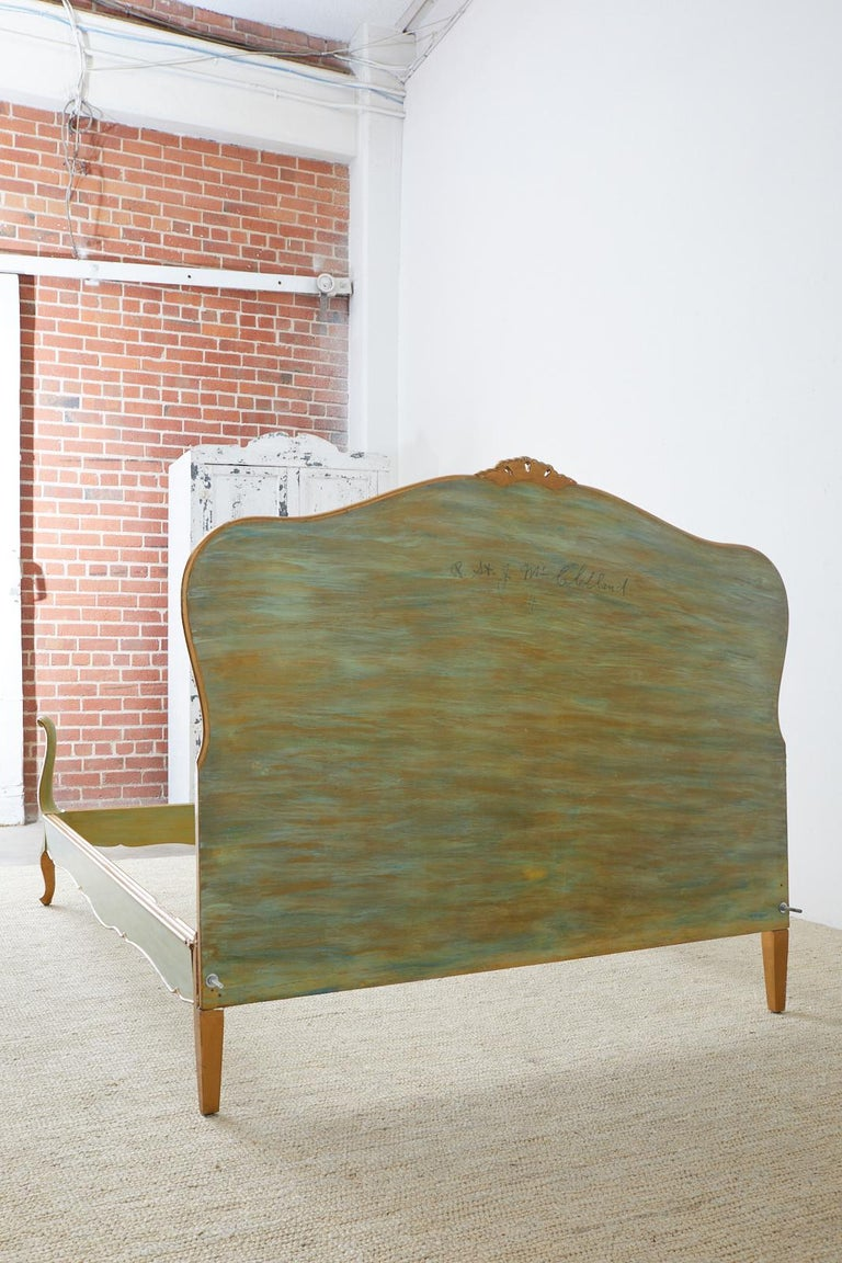 Early 20th Century French Louis XV Style Lacquered Bed 12
