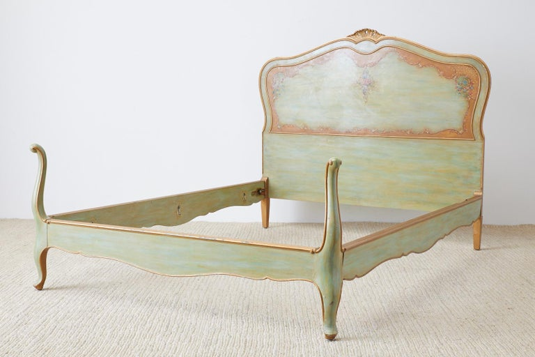 European Early 20th Century French Louis XV Style Lacquered Bed