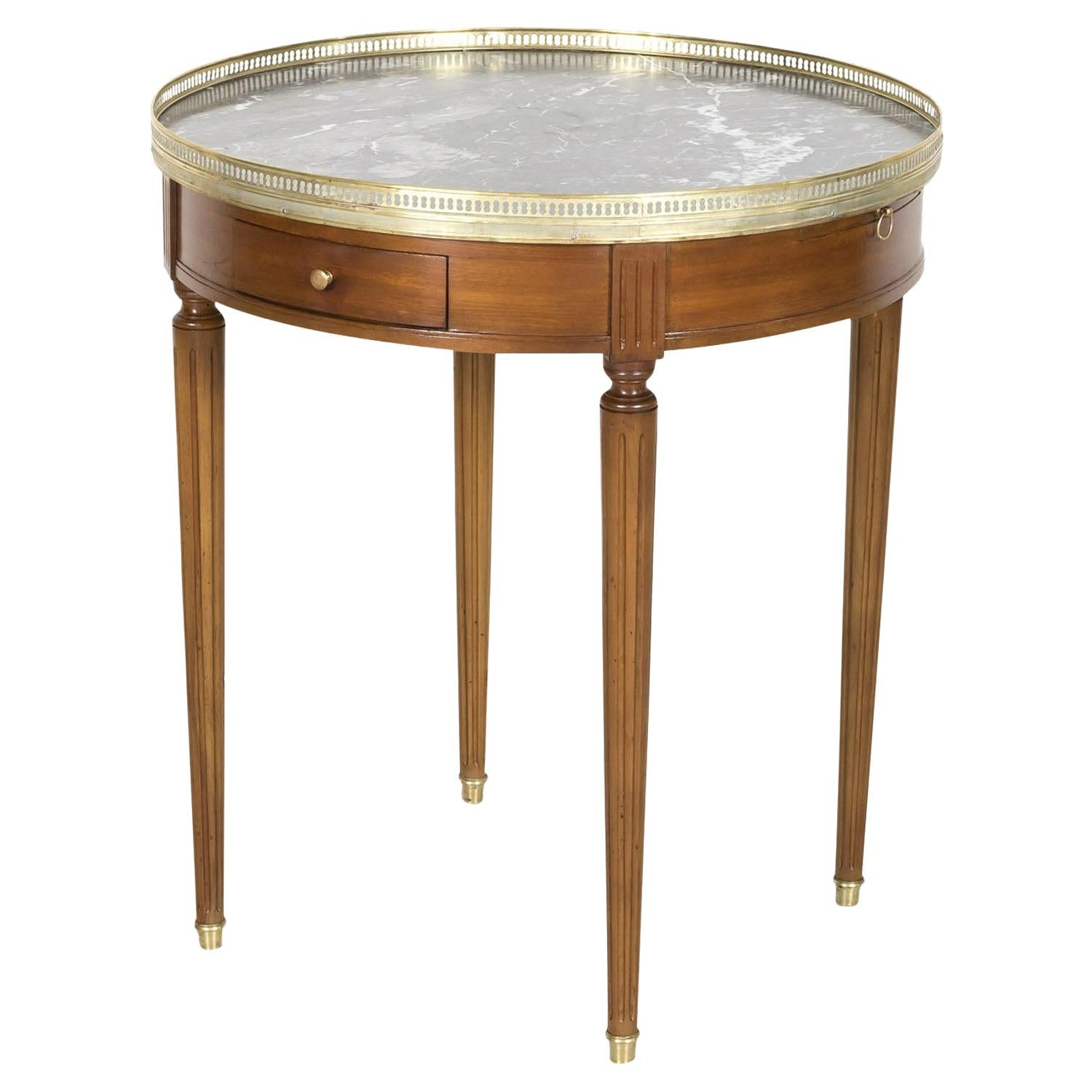 Early 20th Century French Louis XVI Style Mahogany Bouillotte Side Table