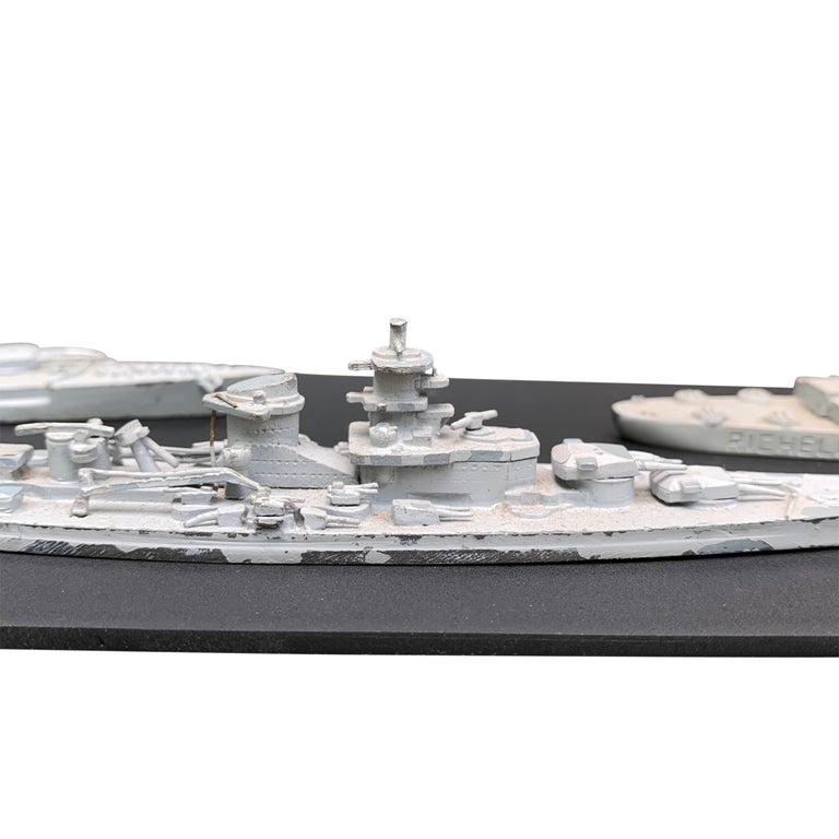 Lead Early 20th Century French Naval Battleship Training Models For Sale
