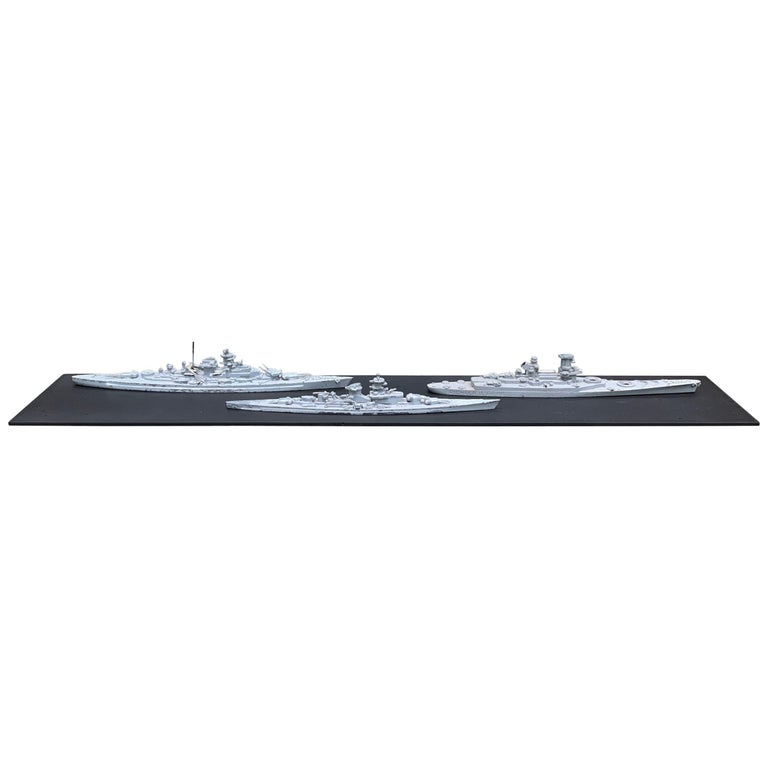 Early 20th Century French Naval Battleship Training Models For Sale