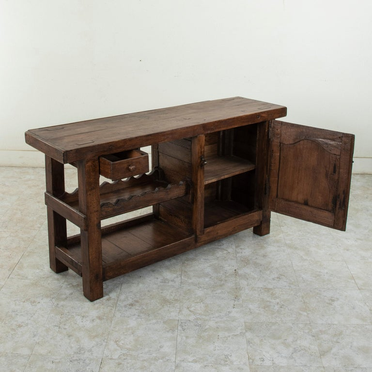 Early 20th Century French Oak Workbench, Console, Sofa Table, Dry Bar 6