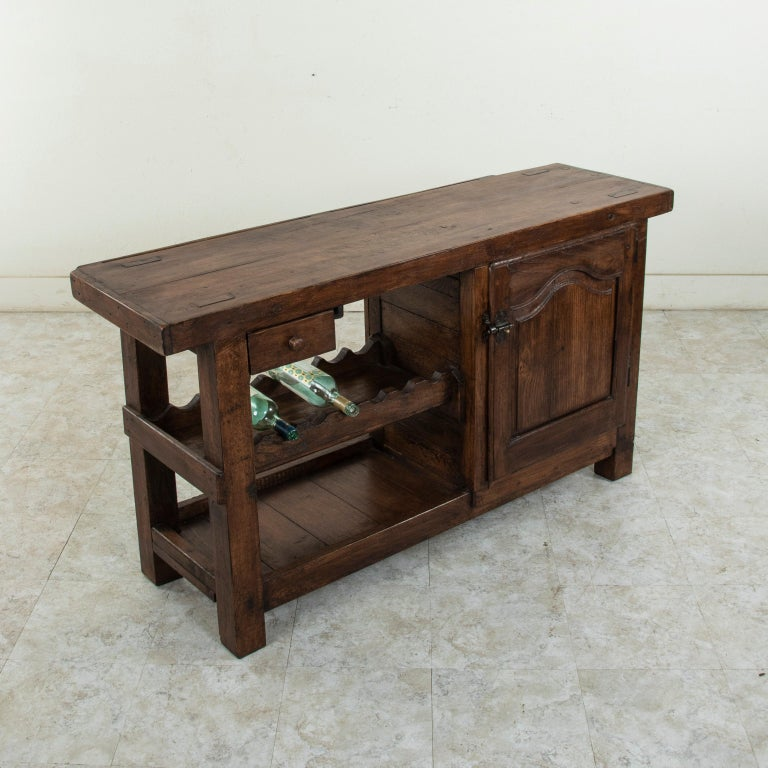Early 20th Century French Oak Workbench, Console, Sofa Table, Dry Bar 7