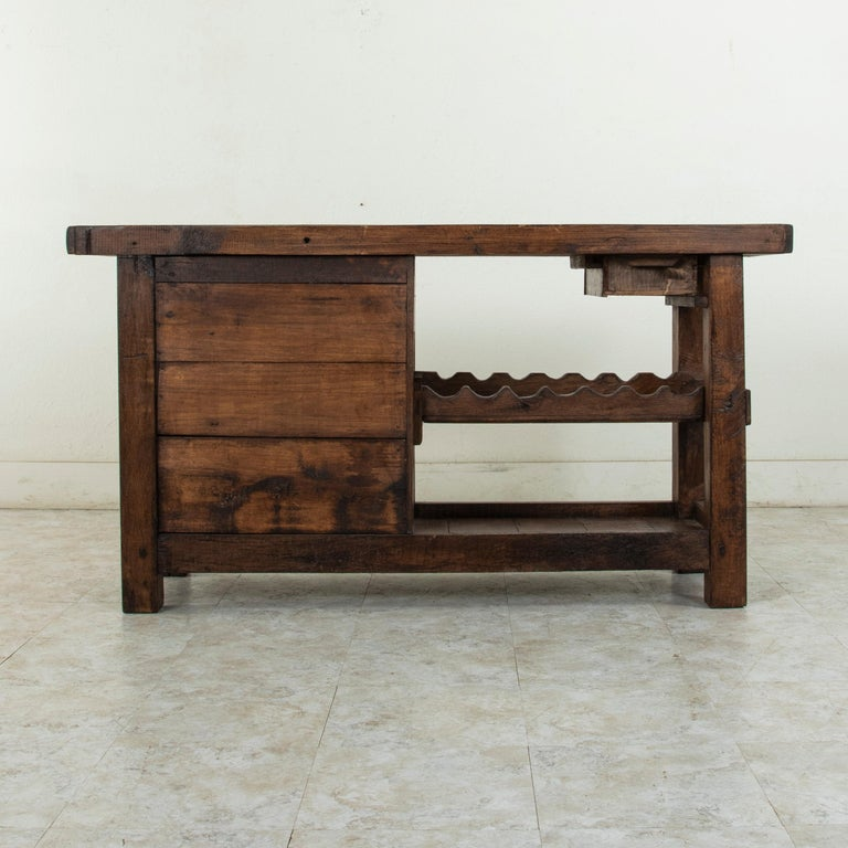 Early 20th Century French Oak Workbench, Console, Sofa Table, Dry Bar 1