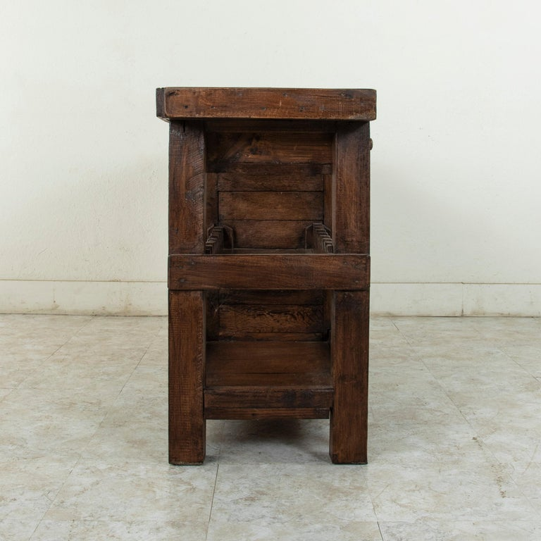 Early 20th Century French Oak Workbench, Console, Sofa Table, Dry Bar 2