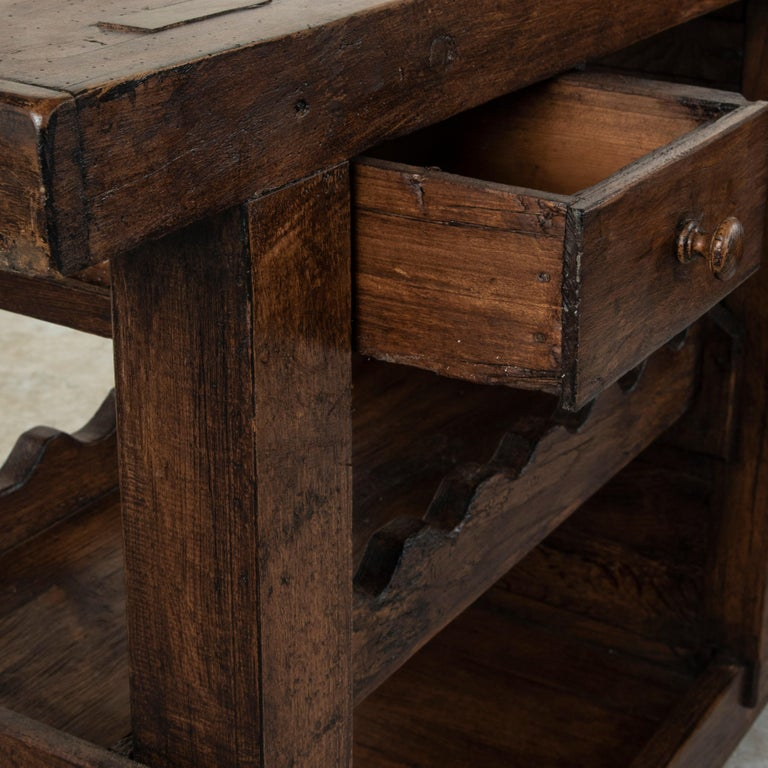 Early 20th Century French Oak Workbench, Console, Sofa Table, Dry Bar 3
