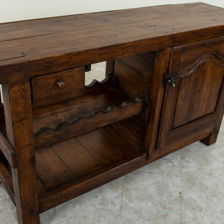 Early 20th Century French Oak Workbench, Console, Sofa Table, Dry Bar 5