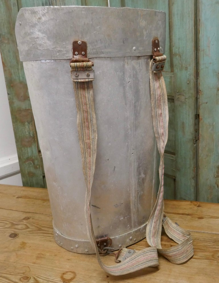 Rustic Early 20th Century French Olive Picker's Hod For Sale