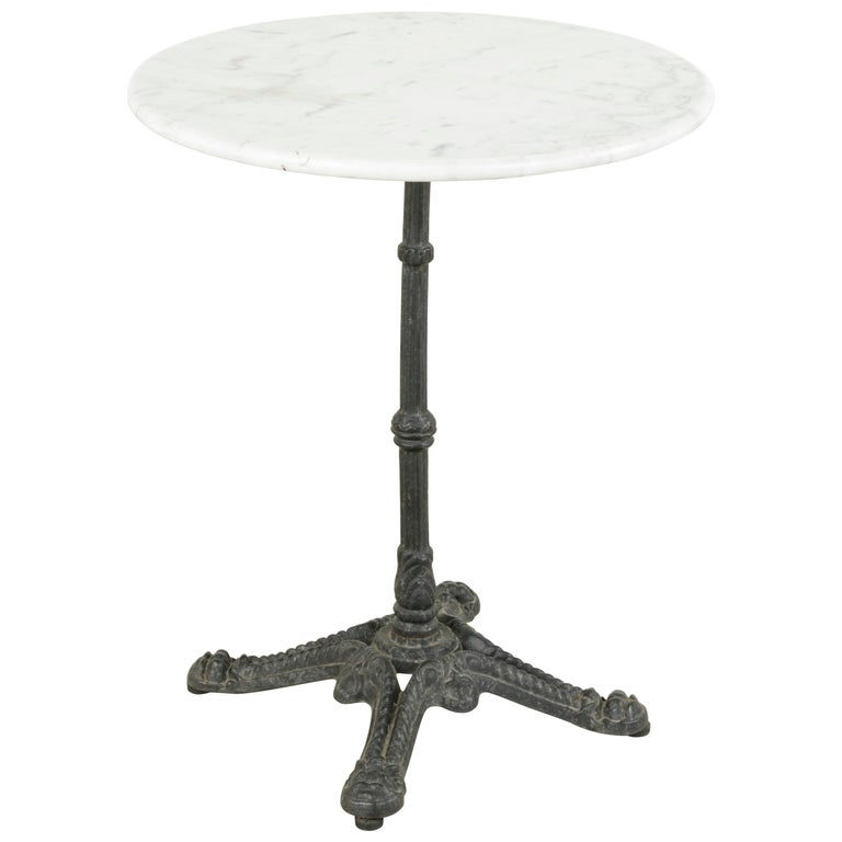 Amazing Early 20Th Century French Outdoor Iron Bistro Table With White Marble Top Best Image Libraries Weasiibadanjobscom