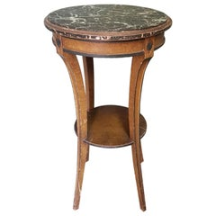 Early 20th Century French Painted Directoire Style Gueridon with Marble Top