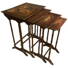 Early 20th Century French Painting Nesting Tables, 1900s