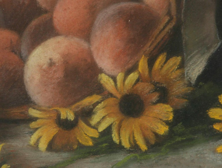Hand-Painted Early 20th Century French Painting Pastel-Color on Paper by H. Bossy, 1905 For Sale