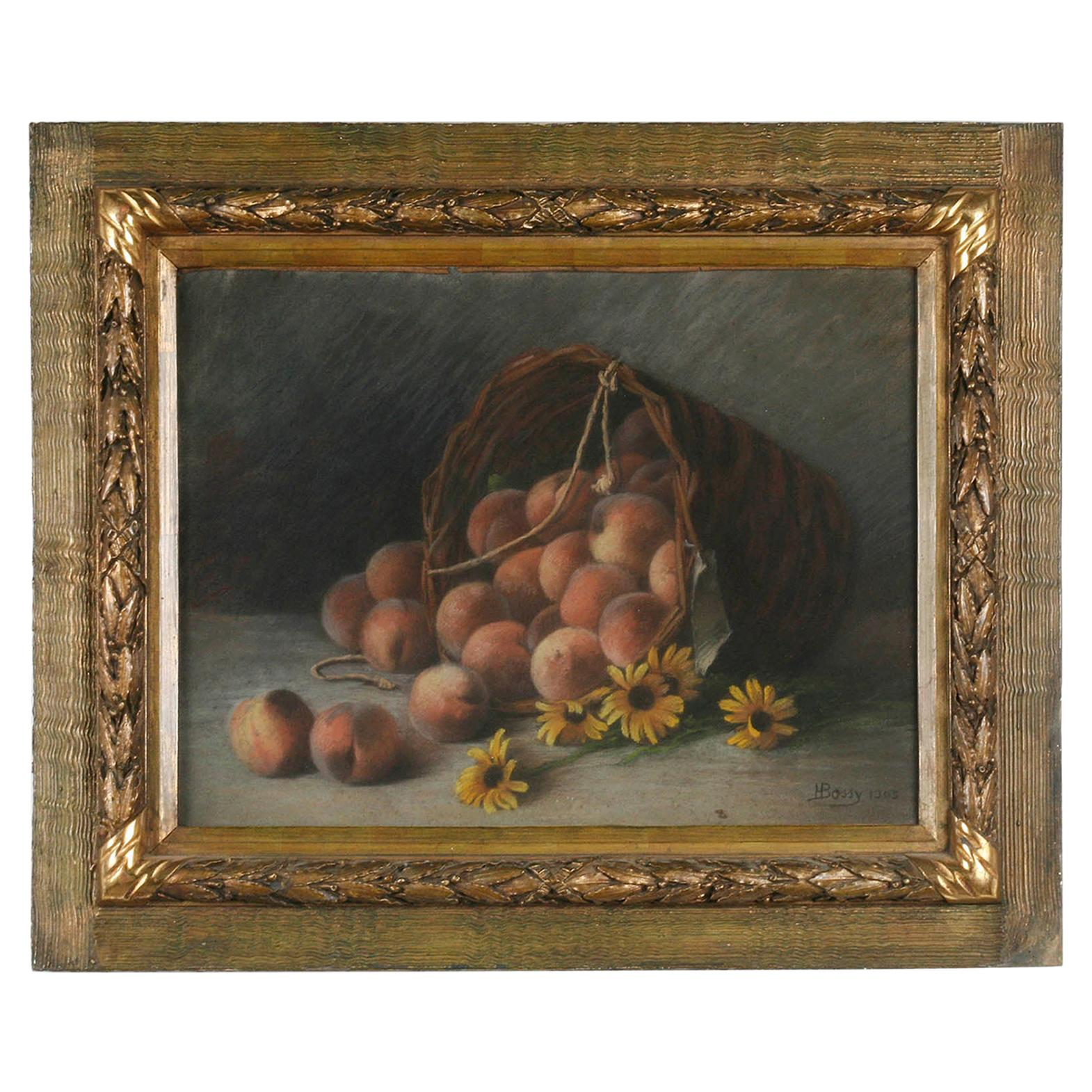 Early 20th Century French Painting Pastel-Color on Paper by H. Bossy, 1905