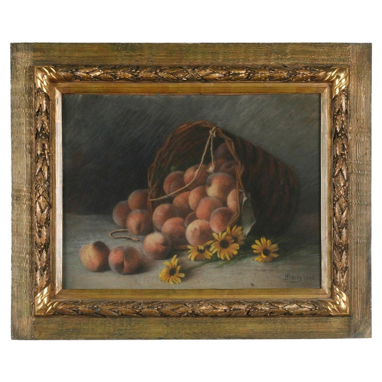 Early 20th Century French Painting Pastel-Color on Paper by H. Bossy, 1905 For Sale