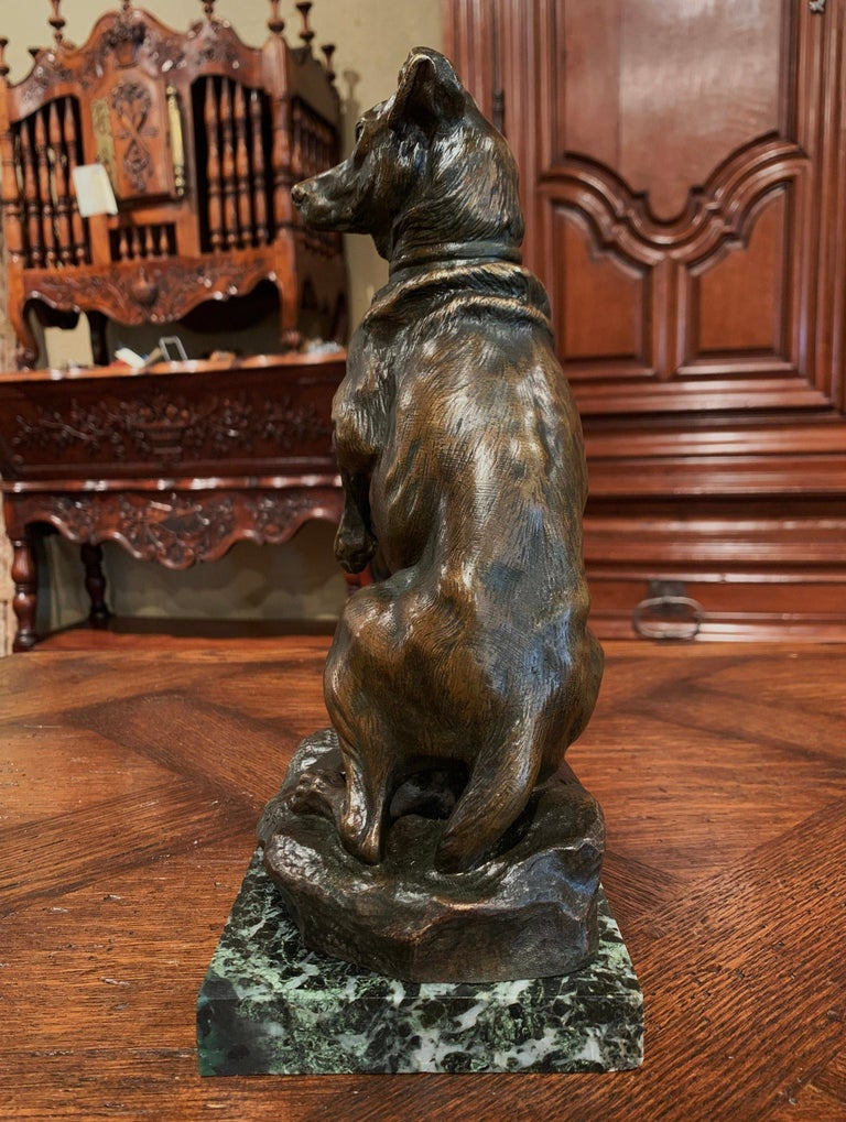 Early 20th Century French Patinated Bronze Hunt Dog Sculpture Signed T. Cartier 5