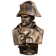 Early 20th Century French Patinated Iron Bust of Napoleon Bonaparte