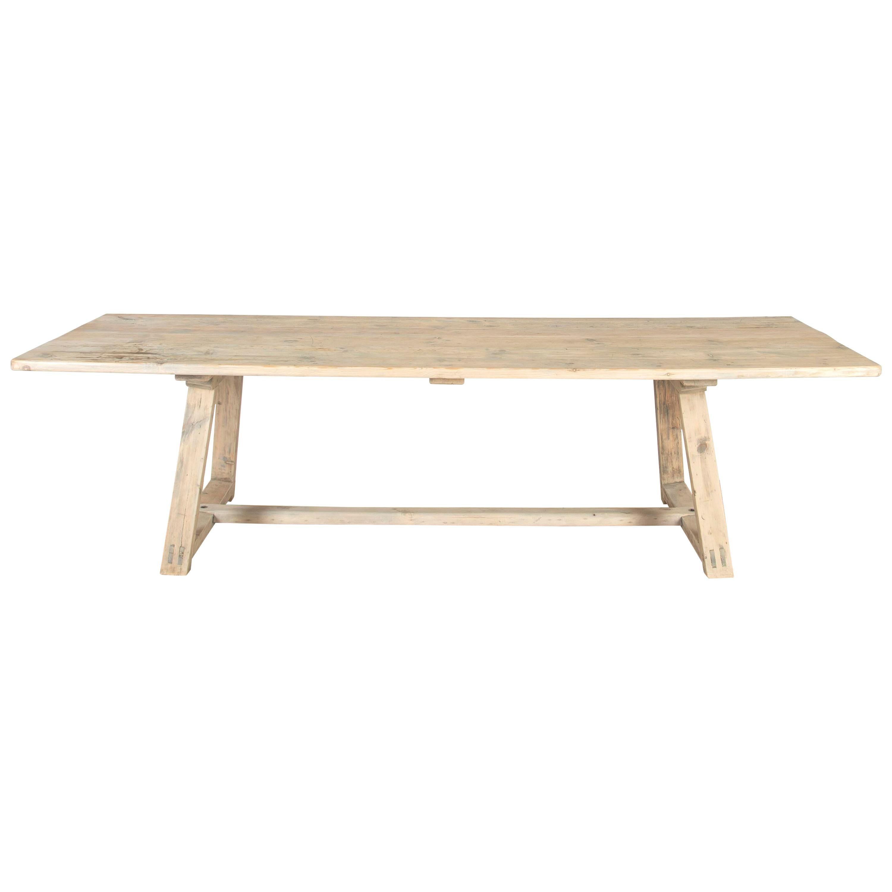 Early 20th Century French Pine Table