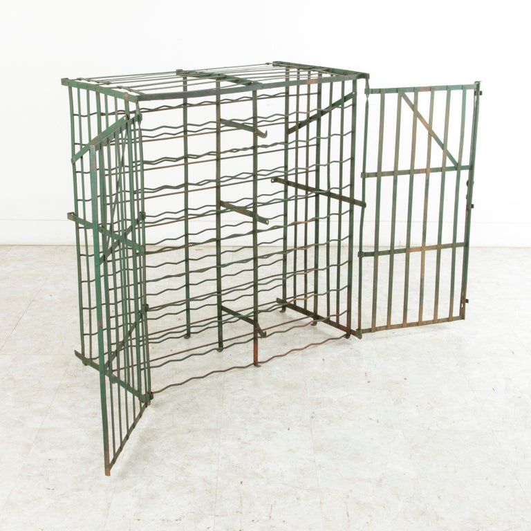 Early 20th Century French Riveted Iron Wine Cage or Wine Cellar for 200 Bottles For Sale 7