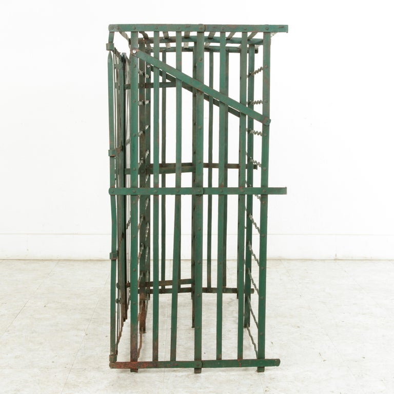 Early 20th Century French Riveted Iron Wine Cage or Wine Cellar for 200 Bottles For Sale 3