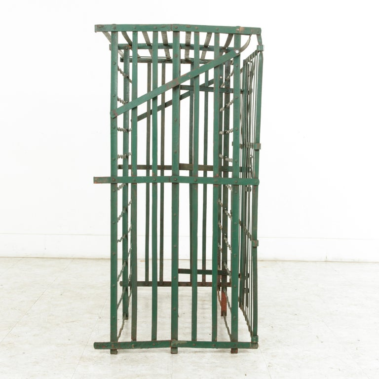 Early 20th Century French Riveted Iron Wine Cage or Wine Cellar for 200 Bottles For Sale 5