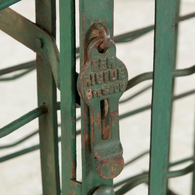 Early 20th Century French Riveted Iron Wine Cage or Wine Cellar for 200 Bottles For Sale 6