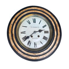 Early 20th Century French Round Wall Clock