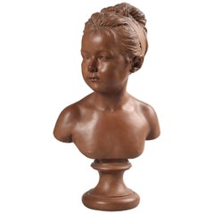 Early 20th Century French Terracotta Statue of Louise Brongniart after Houdon