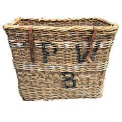 Early 20th Century French Vineyard Basket