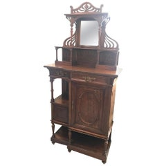 Early 20th Century French Walnut Art Nouveau Cabinet, 1900s