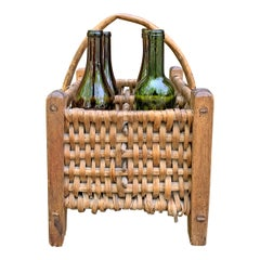 Early 20th Century French Wine Carrier Basket