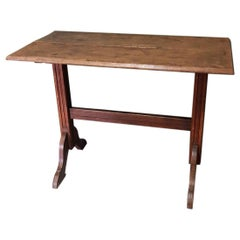Early 20th Century French Wooden Bistro Table