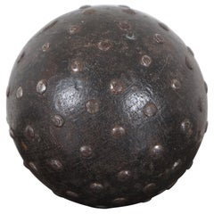 Early 20th Century French Wooden Painted Petanque Boules Bocce Ball Lawn Bowling