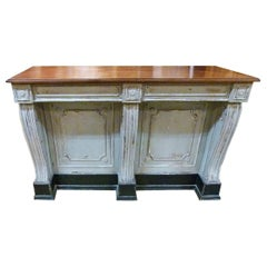 Early 20th Century French Wooden Store Counter