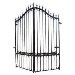 Early 20th Century French Wrought Iron Garden Gate