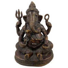 Early 20th Century Ganesha, Lord of Obstacles Bronze Sculpture